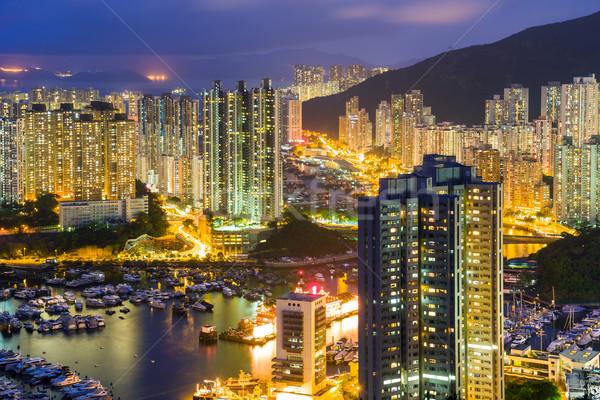 Hong Kong apartment building Stock photo © leungchopan