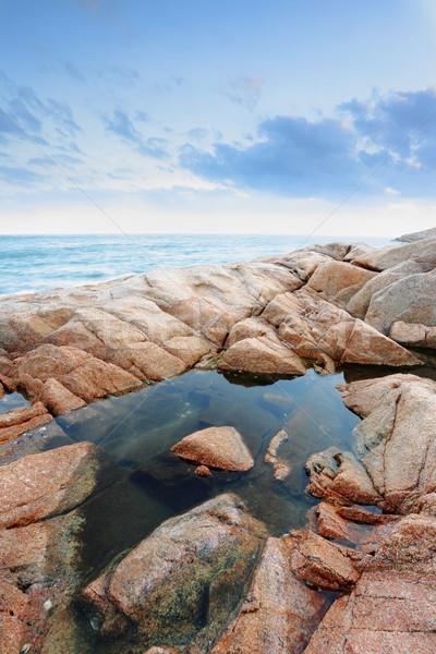 морской пейзаж Гонконг воды аннотация пейзаж лет Сток-фото © leungchopan