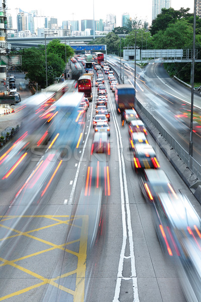 speed evening traffic motion blur Stock photo © leungchopan