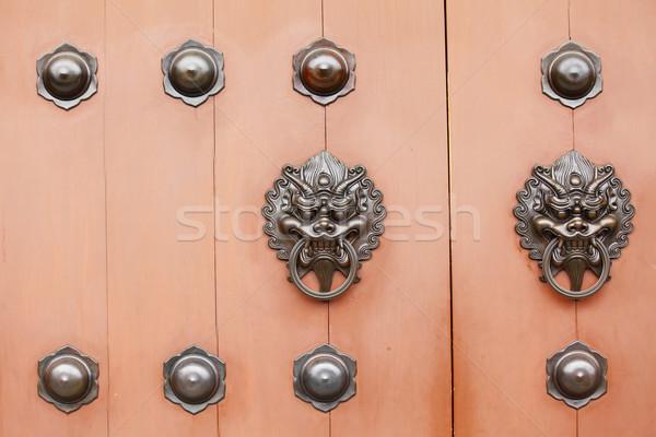 Stok fotoğraf: Çin · stil · kapı · mimari · kilitlemek · Asya