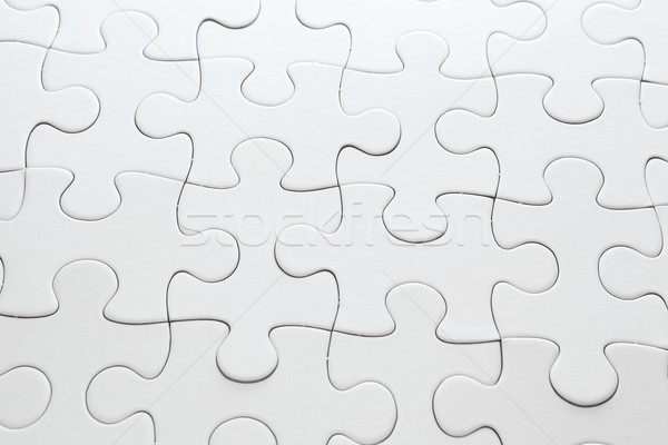 White completed puzzle Stock photo © leungchopan