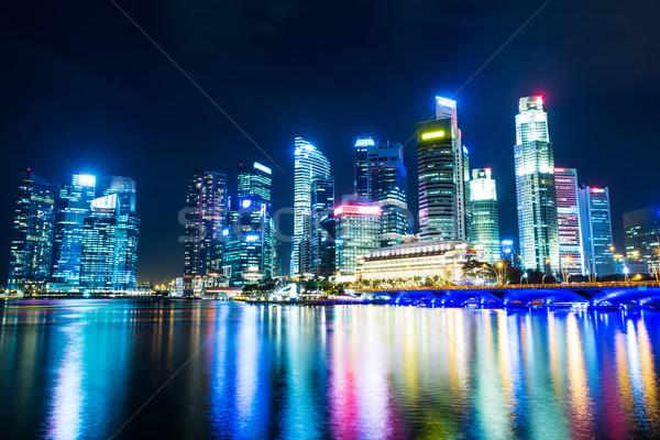 Singapore night Stock photo © leungchopan