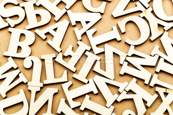 ランダム 手紙 紙 木材 デザイン 背景 ストックフォト © leungchopan