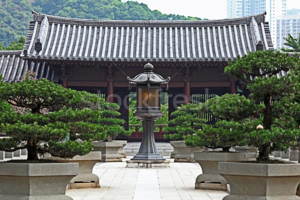 Stock fotó: Kínai · templom · kert · kő · ázsiai · kultúra