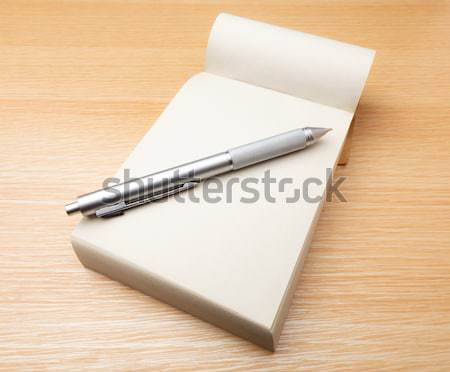 Memorando caneta tabela caderno registro novo Foto stock © leungchopan