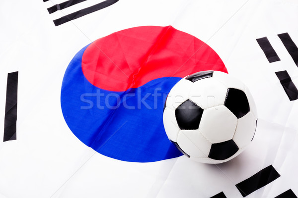 South Korean flag and football Stock photo © leungchopan