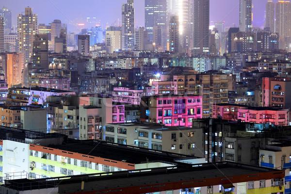 downtown in Hong Kong night Stock photo © leungchopan