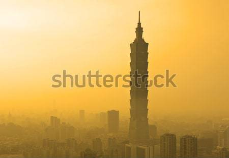 Taipei in sunset Stock photo © leungchopan