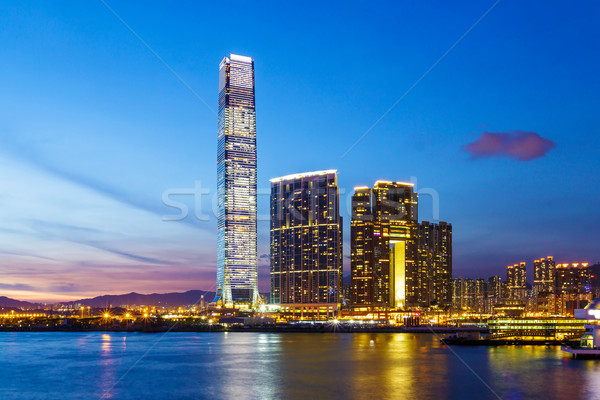 Kowloon area at night Stock photo © leungchopan