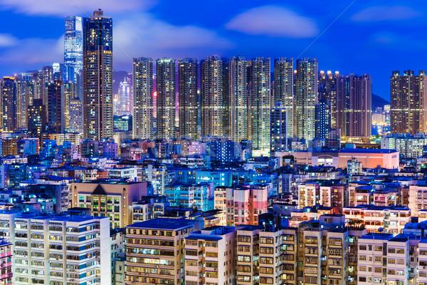 アパート 香港 1泊 スカイライン アパート 公共 ストックフォト © leungchopan