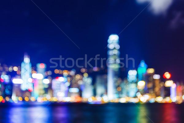 Defocused Hong Kong skyline Stock photo © leungchopan