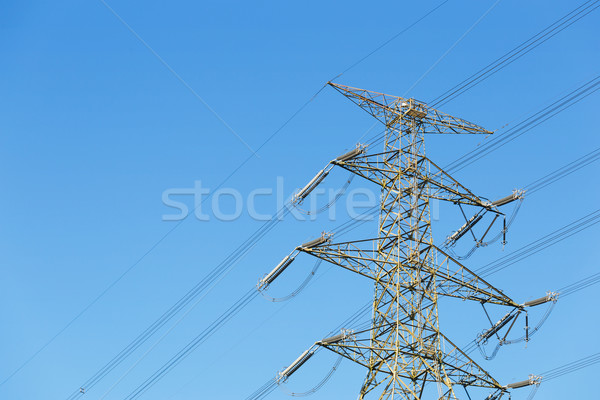 Power distribution tower with clear sky Stock photo © leungchopan