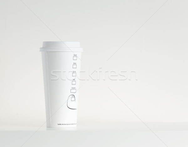 White Paper Cup Stock photo © leungchopan