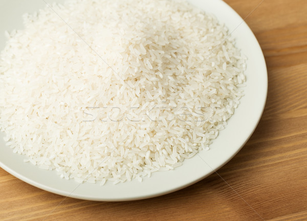 Foto stock: Branco · arroz · prato · textura · grão · refeição