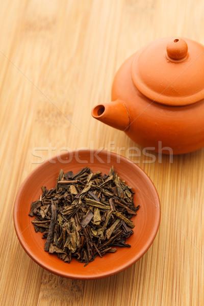 Chinese tea leave Stock photo © leungchopan