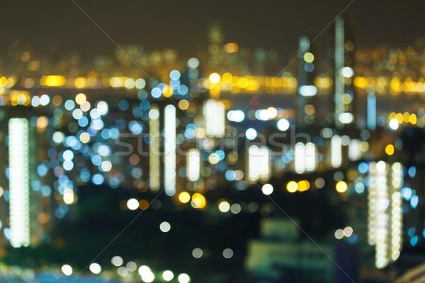 Blur city at night Stock photo © leungchopan