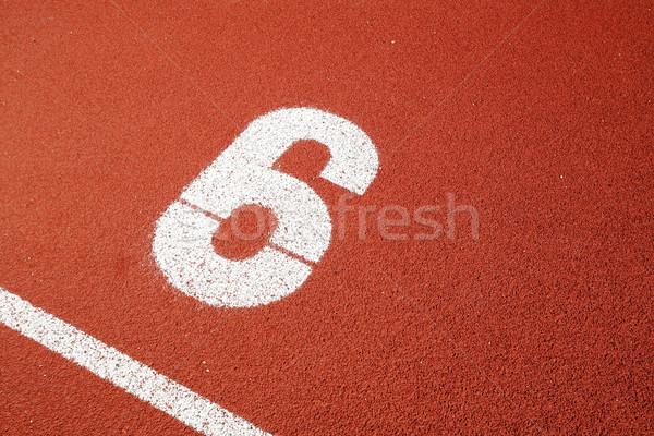 Começar ponto dígito seis textura esportes Foto stock © leungchopan