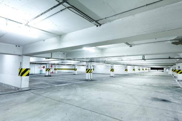 Parking route intérieur concrètes moteur perspectives Photo stock © leungchopan