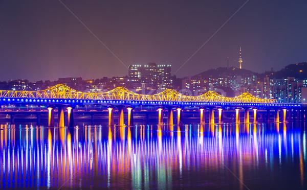 Seul cidade Coréia do Sul escritório água edifício Foto stock © leungchopan