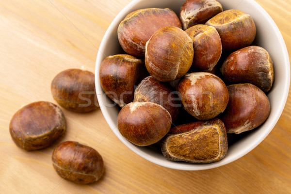 Chestnut in bowl Stock photo © leungchopan