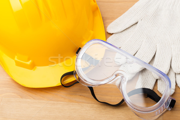 Standard safety equipment fot construction industry Stock photo © leungchopan
