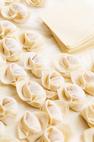 Homemade dumpling with raw material Stock photo © leungchopan