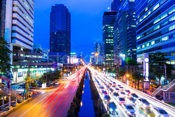 Zdjęcia stock: Bangkok · korku · działalności · drogowego · budynku · miasta