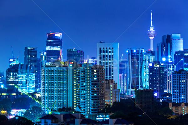 Kuala Lumpur şehir iş gökyüzü gece mimari Stok fotoğraf © leungchopan