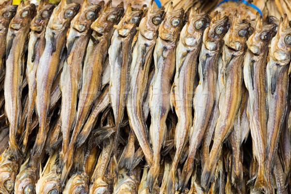Asya tuzlu balık doku gıda pazar Stok fotoğraf © leungchopan