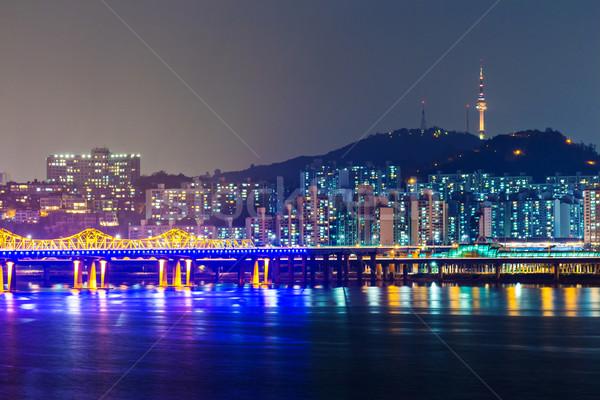 Сеул город Южная Корея небе воды морем Сток-фото © leungchopan