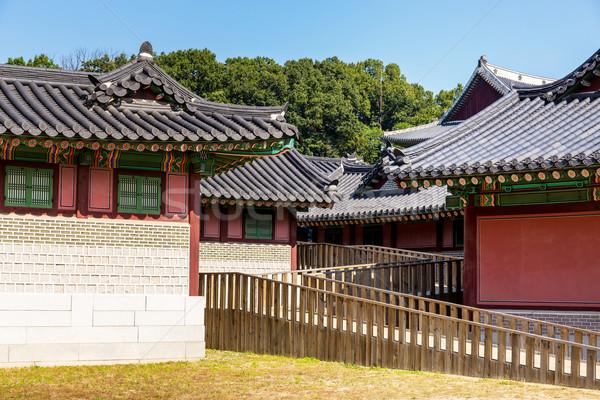 Korean traditional architecture Stock photo © leungchopan