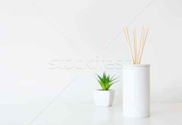Home diffuser and potted plant Stock photo © leungchopan
