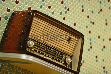 grungy retro radio Stock photo © leungchopan