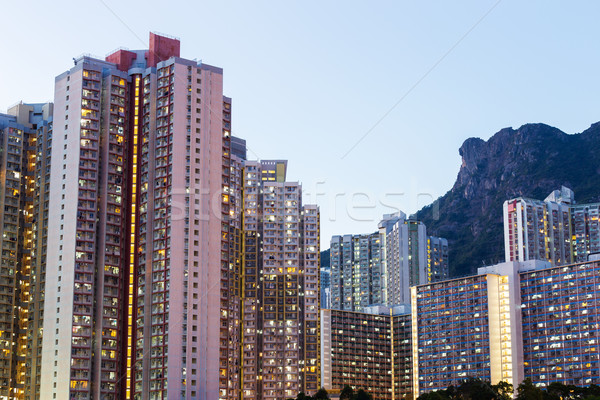 Public housing in Hong Kong Stock photo © leungchopan