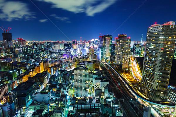 Paisaje urbano Tokio noche negocios casa empresarial Foto stock © leungchopan