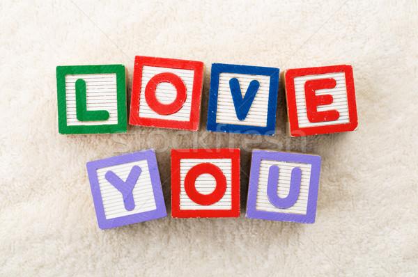 Love you toy block Stock photo © leungchopan