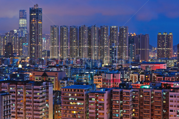 apartment building at night Stock photo © leungchopan