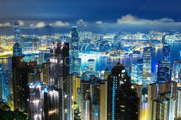 Hong Kong skyline from the peak Stock photo © leungchopan