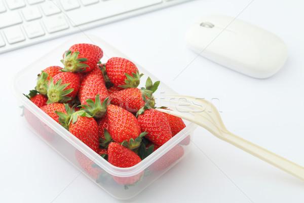 Saludable almuerzo cuadro portátil tiempo Foto stock © leungchopan
