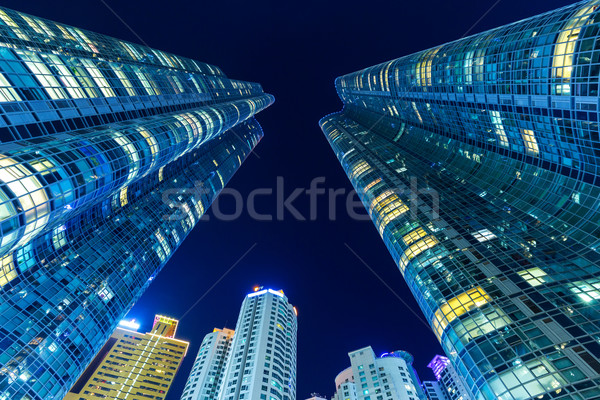 Modern bina gökyüzü şehir duvar ev cam Stok fotoğraf © leungchopan