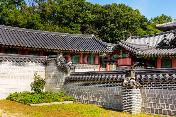 Traditional korean architecture Stock photo © leungchopan