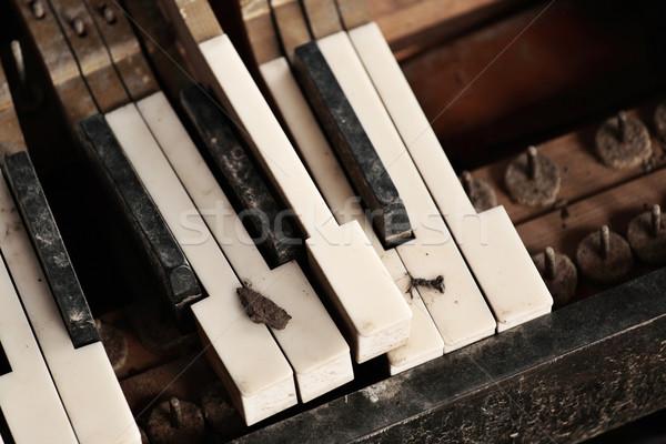 broken piano keyboard Stock photo © leungchopan