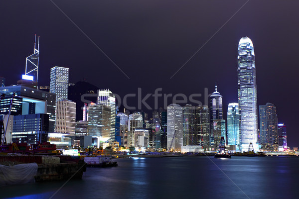 Hong Kong skyline night Stock photo © leungchopan