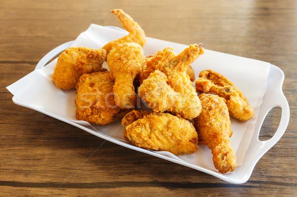 Fired chicken Stock photo © leungchopan