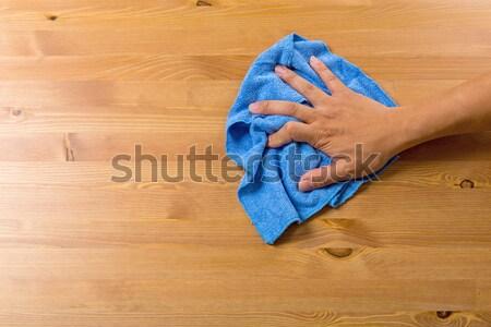 Stok fotoğraf: Temizlik · tablo · el · ev · adam · ev