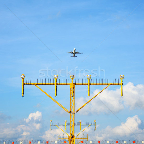 Airport approach landing direction light Stock photo © leungchopan