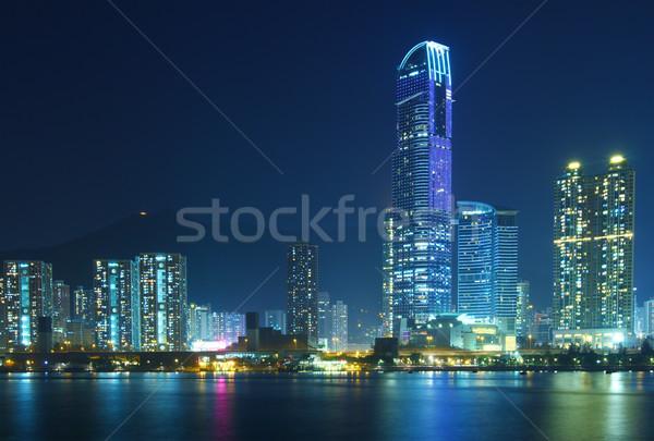 Urbaine paysage Hong-Kong eau bâtiment maison Photo stock © leungchopan