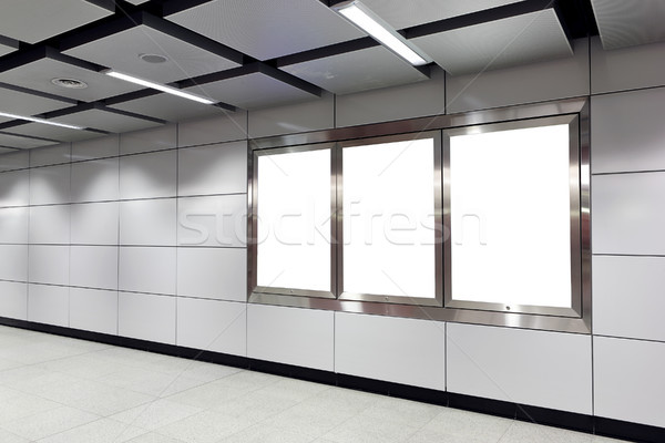 Stock photo: billboard in metro station