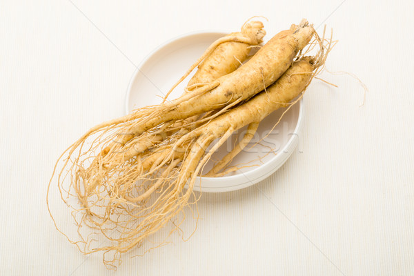 свежие женьшень продовольствие медицина белый Азии Сток-фото © leungchopan