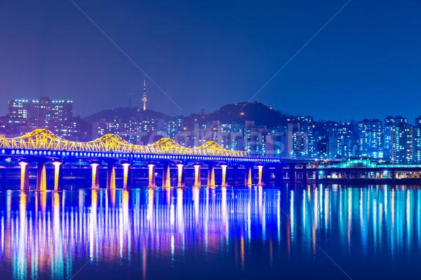 Seoul city in South Korea  Stock photo © leungchopan